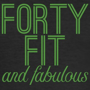 40. Geburtstag: Forty Fit And Fabulous - Männer Slim Fit T-Shirt