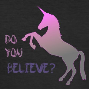 Do you believe in unicorn? - Männer Slim Fit T-Shirt