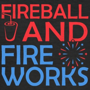 Fireball And Fireworks - Men's Slim Fit T-Shirt