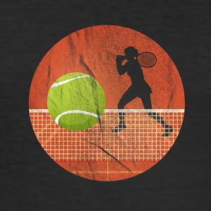 Tennis ball - over nettverket - Slim Fit T-skjorte for menn
