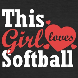 This girl loves softball - Men's Slim Fit T-Shirt