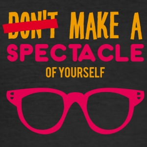 Optiker: Make a spectacle of yourself. - Männer Slim Fit T-Shirt