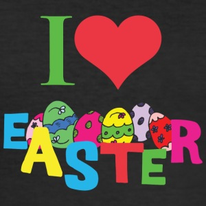 I Love Easter - Herre Slim Fit T-Shirt