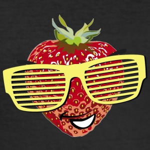 horny strawberry strawberry cool sunglasses Hipste - Men's Slim Fit T-Shirt