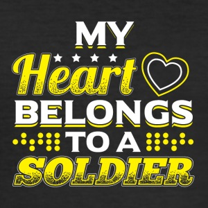 My Heart Belongs To A Soldier - Men's Slim Fit T-Shirt