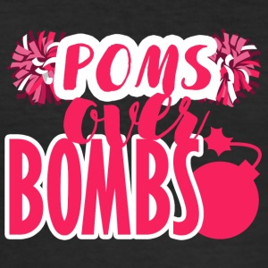 Cheerleader: Poms Over Bombs - Männer Slim Fit T-Shirt