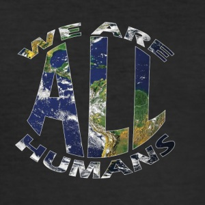 we are all humans weltkugel - Männer Slim Fit T-Shirt