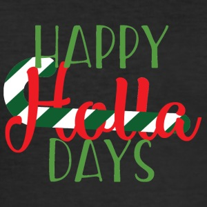Weihnachten: Happy Holla Days - Männer Slim Fit T-Shirt