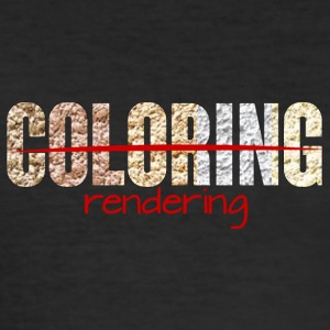 Architekt / Architektur: Coloring - Rendering - Männer Slim Fit T-Shirt