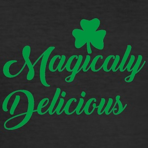 Ireland / St. Patricks Day: Magicaly Delicious - Slim Fit T-skjorte for menn