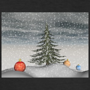 christmas_snow - Slim Fit T-skjorte for menn