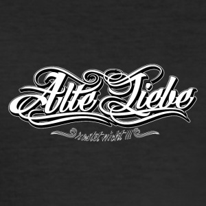 Alte_Liebe_Spreadshirtsize_white - Slim Fit T-skjorte for menn