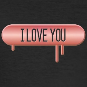 I LOVE YOU 001 round ontwerpen - slim fit T-shirt
