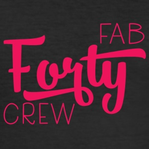 40ste verjaardag: Fab Forty Crew - slim fit T-shirt