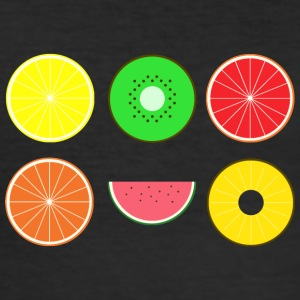DIGITAL FRUITS - Digitale Hipster Früchte - Männer Slim Fit T-Shirt