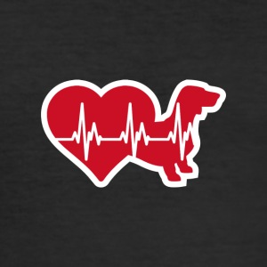 HeartBeat Short Haardackel ILOVETECKEL - Men's Slim Fit T-Shirt