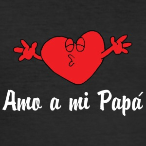 Amo A Mi Papa - Slim Fit T-skjorte for menn