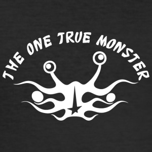 the one true monster Netherlands white - Men's Slim Fit T-Shirt