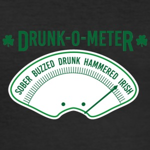 Ireland / St. Patrick's Day: Drunk-O-Meter - Sober, - Men's Slim Fit T-Shirt