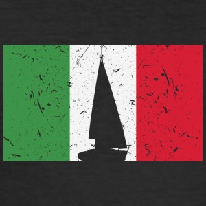 Segelboot - Flagge - Italien - Männer Slim Fit T-Shirt