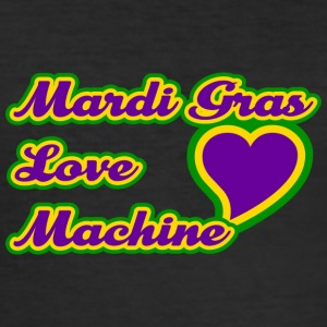 Mardi Gras Love Machine - Slim Fit T-skjorte for menn