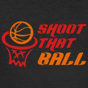 Coach / Trainer: Shoot That Ball - Männer Slim Fit T-Shirt