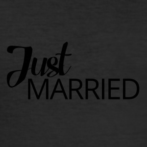 Wedding / Matrimonio: Just Married - Maglietta aderente da uomo