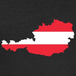 Austria - flag - Men's Slim Fit T-Shirt