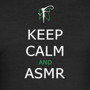 KEEP CALM AND ASMR b / n - Men's Slim Fit T-Shirt