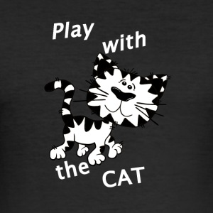 Play_Cat_Wei - 3 - slim fit T-shirt
