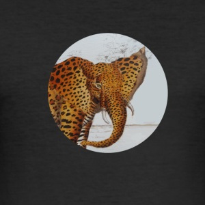 panther elefant - Slim Fit T-shirt herr