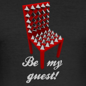 Be my guest! (Not.) - Männer Slim Fit T-Shirt