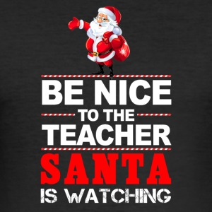 The Christmas man is watching! - Men's Slim Fit T-Shirt