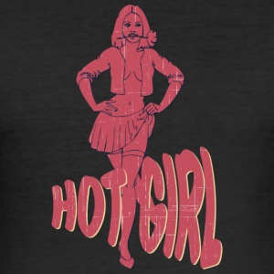 PIN UP GIRL varm pige vintage - Herre Slim Fit T-Shirt