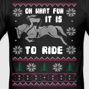 OH WHAT FUN IT IS TO RIDE - Men's Slim Fit T-Shirt