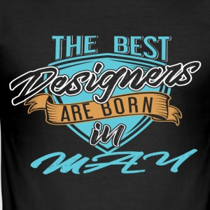 Best Designers Born In MAY - Men's Slim Fit T-Shirt