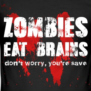 Zombies eat brains - Men's Slim Fit T-Shirt