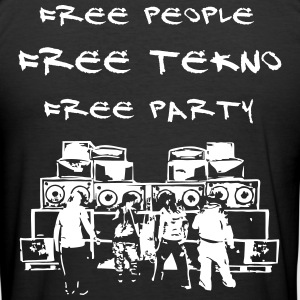 Free people - Free tekno - Free party - Männer Slim Fit T-Shirt