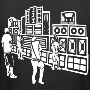 008 soundsystem 23 - Männer Slim Fit T-Shirt