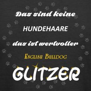 English Bulldog Glitzer - Männer Slim Fit T-Shirt