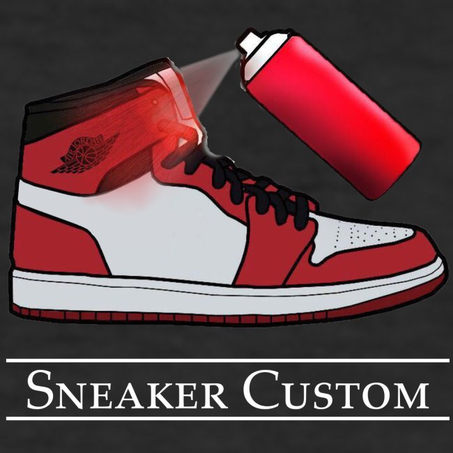 Sneaker Custom Logo /white text