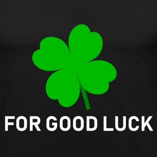 Voor goed geluk (zwart) - Mannen slim fit T-shirt