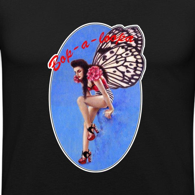 Vintage Rockabilly Butterfly Pin-up Design