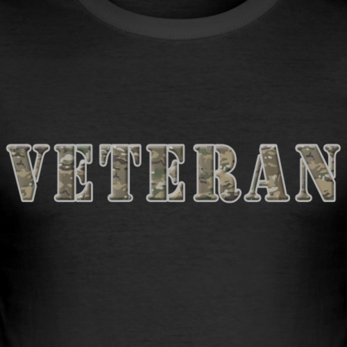 VeteranCamoMuticam - Herre Slim Fit T-Shirt