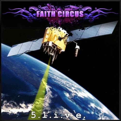 FAITH CIRCUS 5.live EP Cover - Men's Slim Fit T-Shirt