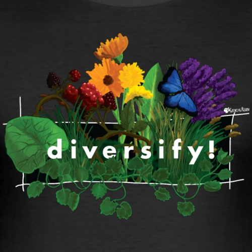 diversify! - Männer Slim Fit T-Shirt