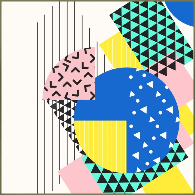 Retro Vintage Shapes Abstract