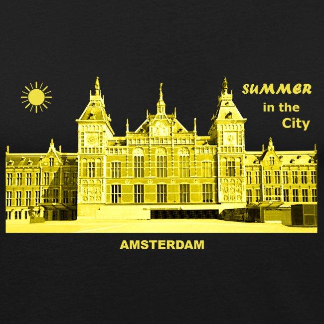 Summer Amsterdam City Bahnhof Niederlande Sommer