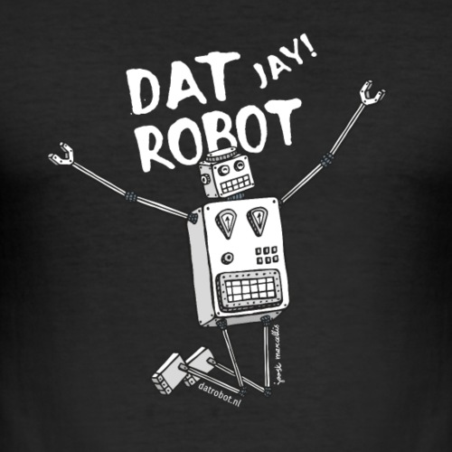 Dat Robot: The Joy of Life - Mannen slim fit T-shirt
