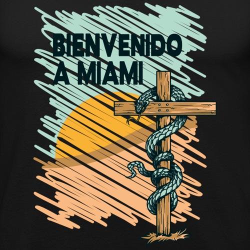 Willkommen auf Miami - Männer Slim Fit T-Shirt